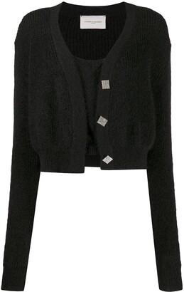 Giuseppe di Morabito Chunky-Knit Embellished Cardigan