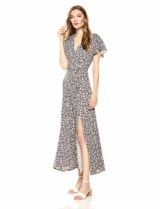 French Connection Women's Aubi Rayon V-Neck Maxi Dress