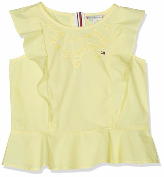Tommy Hilfiger Girl's Endearing Embroidered Top S/s Vest