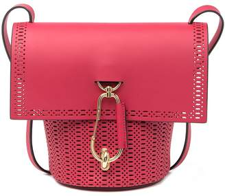 Zac Posen Belay Perforated Leather Crossbody Bag