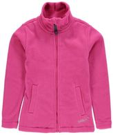 Gelert Kids Girls Ottawa Fleece Jacket Long Sleeve Soft Feel Zip Neck