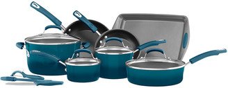 Anolon Rachael Ray Classic Brights Collection 14Pc Cookware Set