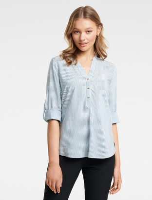 Ever New Daniela Stripe Button Shirt