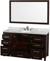 WYNDHAM COLLECTION Wyndham Collection Sheffield 60 inch Single Bathroom Vanity