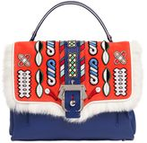 Paula Cademartori Petite Faye Leather Bag W/ Embroidery