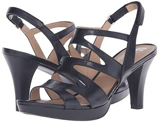 Naturalizer Pressley (Black Leather) High Heels