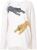 Raquel Allegra tiger print sweatshirt - women - Silk/Cotton - 1