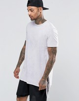 Asos Super Longline T-Shirt With Extreme Side Splits And Tie Sides