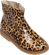 Elephantito Madison Metallic Leather Ankle Boots, Baby/Toddler/Kids