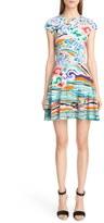 Mary Katrantzou Rainbow Cloud Print Stretch Jersey Dress