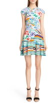 Mary Katrantzou Women's Rainbow Cloud Print Stretch Jersey Dress