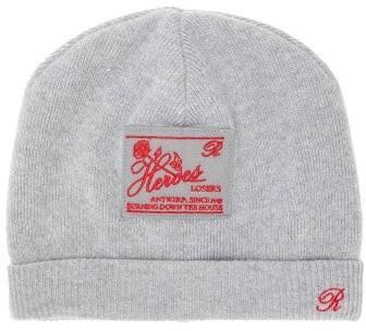 Raf Simons Heroes Wool-blend Beanie Hat - Mens - Grey