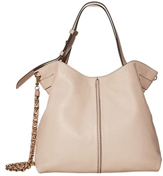 MICHAEL Michael Kors Downtown Astor Large Shoulder (Soft Pink/Fawn) Handbags