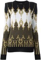 Balmain baroque knitted jumper