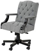 Eichholtz Burchell Desk Chair Black & White