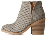 Charlotte Russe Perforated Faux Suede Ankle Booties