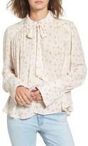 Free People Women's 'Modern Muse' Tie Neck Long Sleeve Blouse