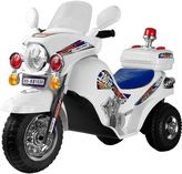 Lil' rider white lightning police cruiser motorcycle ride-on