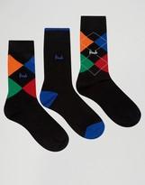 Pringle Waverley Socks In 3 Pack Black