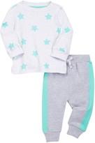 Isaac Mizrahi Long Sleeve Star Print Tee & Pant Set (Baby Boys 0-9M)