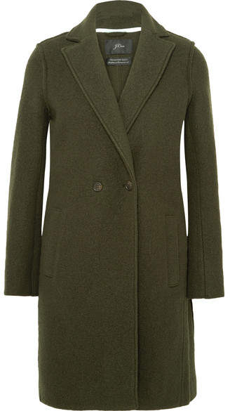J.Crew Daphne Wool-felt Coat - Green