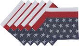 DESIGN IMPORTS Design Imports Flag Stripe Jacquard Set of 6 Napkins
