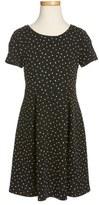 Soprano Star Print Fit & Flare Dress (Big Girls)