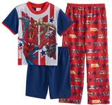 Marvel Boys 4-10 Comics Avengers 3-Piece Pajama Set