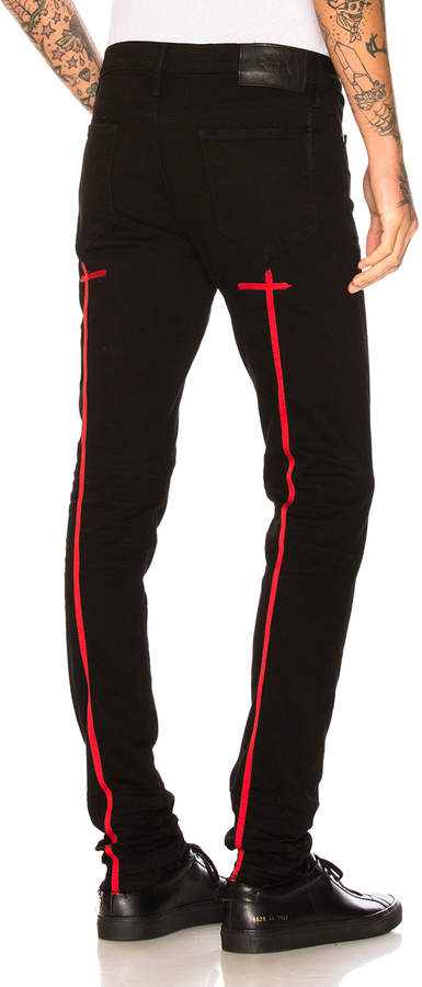 RtA for FWRD Cross Embroidery Skinny Jeans