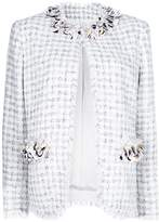 MSGM embellished tweed jacket