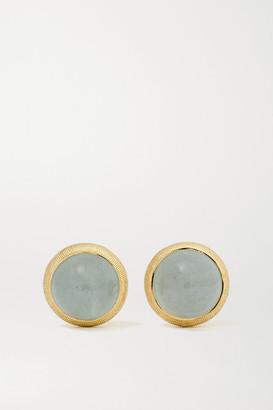 OLE LYNGGAARD COPENHAGEN Lotus 18-karat Gold Aquamarine Earrings - one size