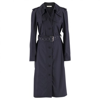 Celine Blue Silk Trench Coat for Women