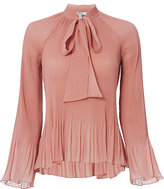Derek Lam 10 Crosby Pleated Tie Blouse