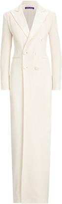Ralph Lauren Kristian Silk Tuxedo Dress