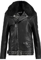 Just Cavalli Studded Leather Biker Jacket