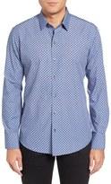 Zachary Prell Men's Trim Fit Geo Print Sport Shirt