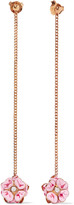 Stella McCartney Gold-tone, enamel and crystal earrings
