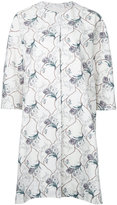 08sircus floral print coat - women - Cotton/Cupro - 1