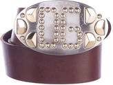 Dolce & Gabbana Studded Leather Belt