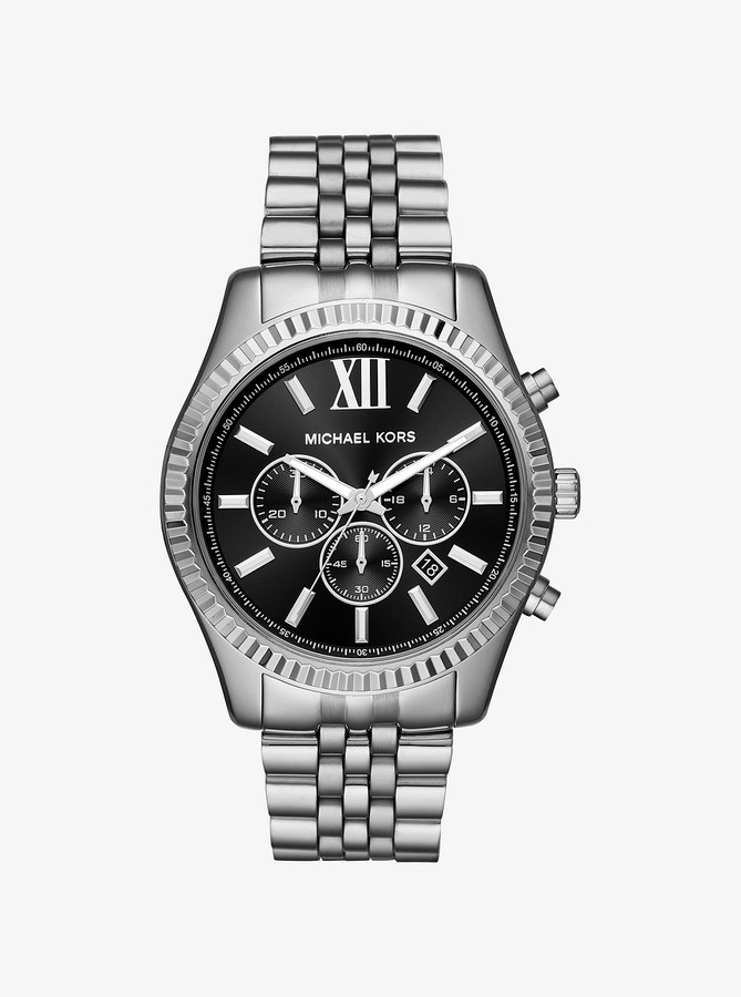 Michael Kors Lexington Silver-Tone Watch