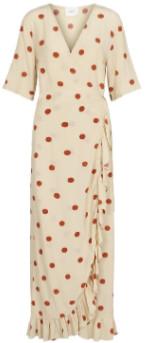 Just Female Brich Polka Dot Adelia Wrap Dress - xs