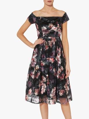 Gina Bacconi Sonia Floral Print Dress, Black