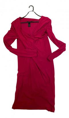 Donna Karan Red Viscose Dresses