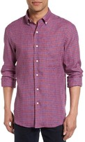 Men's New England Shirt Co. Gingham Linen Sport Shirt