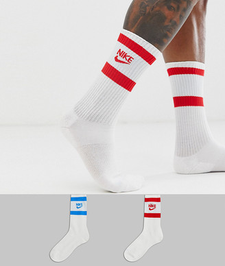 Nike Sneaker Essential 2 pack socks in white