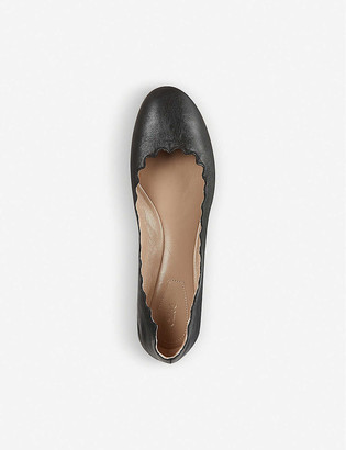 Chloé Scallop leather ballet flats