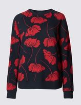 Marks and Spencer Pure Cotton Tulip Print Sweatshirt
