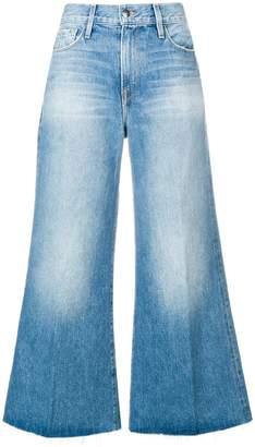 Frame wide leg flared jeans