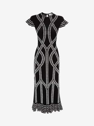 Alexander McQueen Bi-Colour Jacquard knit Dress
