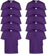 Gildan Boys Heavy Cotton 100% Cotton T-Shirt (Pack of 10)